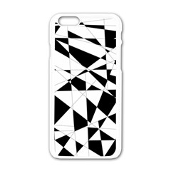 Shattered Life In Black & White Apple iPhone 6 White Enamel Case