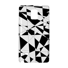 Shattered Life In Black & White Samsung Galaxy Note 4 Hardshell Case