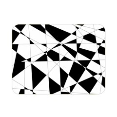 Shattered Life In Black & White Double Sided Flano Blanket (mini)
