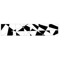 Shattered Life In Black & White Flano Scarf (small)