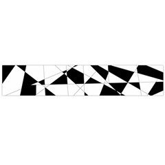 Shattered Life In Black & White Flano Scarf (large)