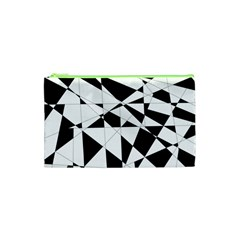Shattered Life In Black & White Cosmetic Bag (XS)