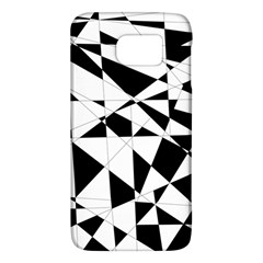 Shattered Life In Black & White Samsung Galaxy S6 Hardshell Case