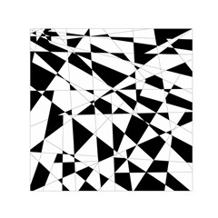 Shattered Life In Black & White Small Satin Scarf (square)
