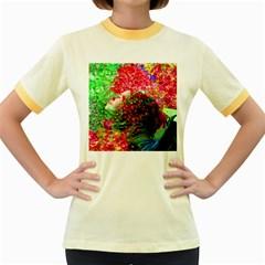 Summer Time Women s Ringer T-shirt (Colored)