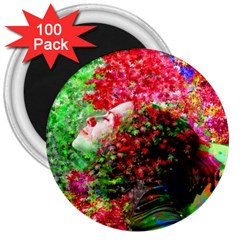 Summer Time 3  Button Magnet (100 Pack)