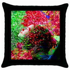 Summer Time Black Throw Pillow Case