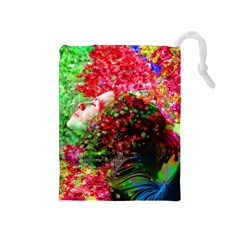 Summer Time Drawstring Pouch (medium)