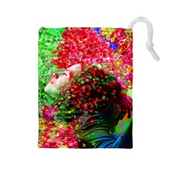 Summer Time Drawstring Pouch (large)