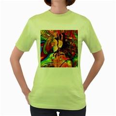Robot Connection Women s T-shirt (Green)