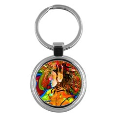 Robot Connection Key Chain (round)