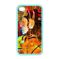 Robot Connection Apple Iphone 4 Case (color)