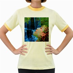 Fountain Of Youth Women s Ringer T-shirt (Colored)