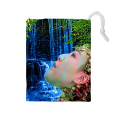 Fountain Of Youth Drawstring Pouch (large)
