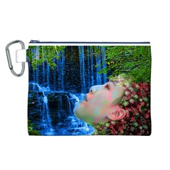 Fountain Of Youth Canvas Cosmetic Bag (large)
