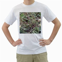 Linaria Grass Pattern Men s Two-sided T-shirt (White)