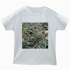 Linaria Grass Pattern Kids T-shirt (White)