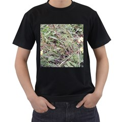 Linaria Grass Pattern Men s Two Sided T-shirt (Black)