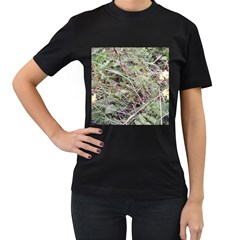 Linaria Grass Pattern Women s Two Sided T-shirt (Black)