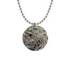 Linaria Grass Pattern Button Necklace