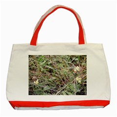 Linaria Grass Pattern Classic Tote Bag (red)