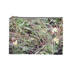 Linaria Grass Pattern Cosmetic Bag (large)