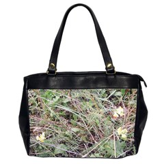 Linaria Grass Pattern Oversize Office Handbag (two Sides)
