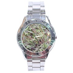 Linaria Grass Pattern Stainless Steel Watch