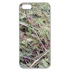 Linaria Grass Pattern Apple Seamless Iphone 5 Case (clear)