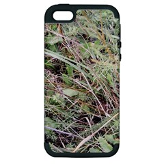 Linaria Grass Pattern Apple Iphone 5 Hardshell Case (pc+silicone)