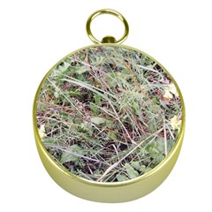 Linaria Grass Pattern Gold Compass