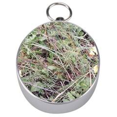 Linaria Grass Pattern Silver Compass