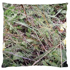 Linaria Grass Pattern Large Flano Cushion Case (Two Sides)