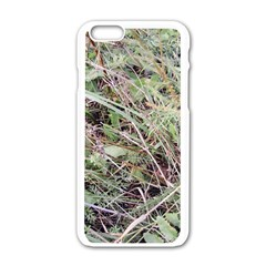 Linaria Grass Pattern Apple Iphone 6 White Enamel Case
