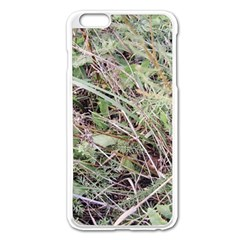 Linaria Grass Pattern Apple Iphone 6 Plus Enamel White Case