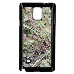 Linaria Grass Pattern Samsung Galaxy Note 4 Case (Black)