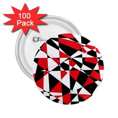 Shattered Life Tricolor 2 25  Button (100 Pack)