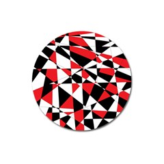 Shattered Life Tricolor Magnet 3  (round)