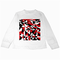 Shattered Life Tricolor Kids Long Sleeve T Shirt