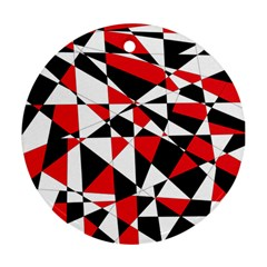 Shattered Life Tricolor Round Ornament (two Sides)