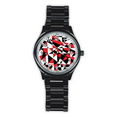 Shattered Life Tricolor Sport Metal Watch (black)