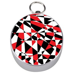 Shattered Life Tricolor Silver Compass