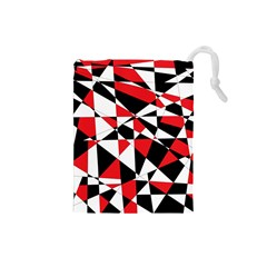 Shattered Life Tricolor Drawstring Pouch (small)