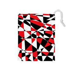 Shattered Life Tricolor Drawstring Pouch (medium)