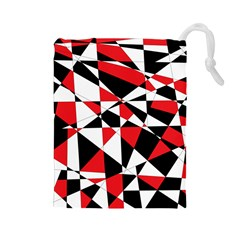 Shattered Life Tricolor Drawstring Pouch (large)