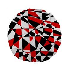 Shattered Life Tricolor Standard 15  Premium Flano Round Cushion