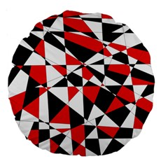 Shattered Life Tricolor Large 18  Premium Flano Round Cushion