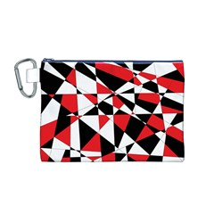 Shattered Life Tricolor Canvas Cosmetic Bag (Medium)