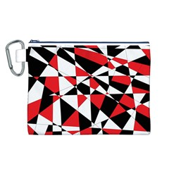 Shattered Life Tricolor Canvas Cosmetic Bag (Large)