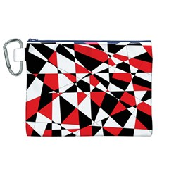 Shattered Life Tricolor Canvas Cosmetic Bag (xl)